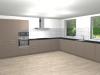 Tekening keuken gezamenlijke woonkamer